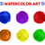 Rood · aquarel · verf · vector · cirkel · papier - stockfoto © robuart