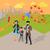 遊園地 · デザイン · ライディング · 回転木馬 · 家族 · 休日 - ストックフォト © robuart