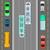 città · traffico · top · view · vettore · auto - foto d'archivio © robuart