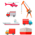 helikopter · dünya · çapında · depo · lojistik · konteyner · nakliye - stok fotoğraf © robuart