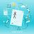 tablet · süreç · strateji · el · mavi - stok fotoğraf © robuart
