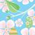 szett · brosúra · szórólap · elrendezés · húsvét · kártya - stock fotó © robuart
