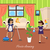 two girls in uniform and apron make house cleaning stock photo © robuart