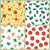 seamless pattern with tomatoes olives mushrooms stock photo © robuart
