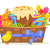 sweet cake chocolate bunny color eggs on easter stock photo © robuart