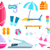 set summer beach icons vector illustration stock photo © robuart