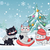 happy winter friends three little cats vector stock photo © robuart