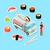 żywności · koszyka · realistyczny · wektora · szablon · biały - zdjęcia stock © robuart