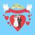 feliz · novia · novio · anillos · de · boda · arte · pop · estilo · retro - foto stock © robuart