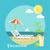 ikon · szett · utazó · tervez · nyári · vakáció · turizmus · utazás - stock fotó © robuart