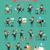 negócio · conjunto · projeto · estilo · ilustrações · feminino - foto stock © robuart