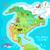 lokalizacja · Meksyk · na · północ · Ameryki · kontynent · kolor - zdjęcia stock © robuart