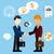 happy business man make handshake exchange case stock photo © robuart