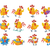 cute cartoon roosters flat vector icon set stock photo © robuart