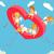 valentin · nap · 3D · izometrikus · angyalok · íj · nő - stock fotó © robuart