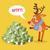 смешные · характер · ожидание · большой · деньги · Cartoon - Сток-фото © robuart