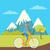 kép · hegyek · színes · vektor · mászik · trekking - stock fotó © robuart