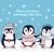 küçük · iki · aşıklar · penguen · balonlar · form - stok fotoğraf © robuart