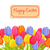 happy easter spring postcard with tulips vector stock photo © robuart