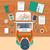 ビジネスマン · 作業 · コンピュータ · 先頭 · 表示 · 職場 - ストックフォト © robuart