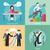 homme · d'affaires · cas · haut · étape · escaliers · affaires - photo stock © robuart