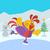 вектора · петух · птица · иллюстрация · голову · Новый · год - Сток-фото © robuart