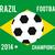 Brazilië · 2014 · voetbal · kampioenschap · kleuren - stockfoto © robuart
