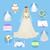 ontwerp · bruiloft · huwelijk · uitnodiging · banners · vector - stockfoto © robuart