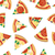 pizza pieces seamless flat pattern vector stock photo © robuart