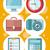 служба · набор · иконки · цифровой - Сток-фото © robuart
