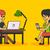 mesa · de · escritório · laptop · comprimido · bloco · de · notas · xícara · de · café - foto stock © robuart