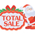 total sale sticker for christmas discounts stock photo © robuart