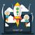 uzay · roket · başlatmak · yukarı · proje - stok fotoğraf © robuart