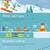 téli · sport · sí · hódeszka · hegy · tájkép · égbolt - stock fotó © robuart