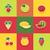 food icons set stock photo © robuart