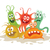 set of cartoon monsters funny smiling germs stock photo © robuart