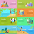 set of people on vacation vector flat web banners stock photo © robuart