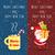 kettő · karácsony · tart · üres · tábla - stock fotó © robuart