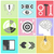 icon set brain light bulb darts target fish eye gear stock photo © robuart