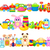 Set of Funny Children Toys on White Background stock photo © robuart