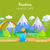 mountains landscape vector concept in flat design stock photo © robuart