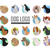 set of dog vector logos in flat style design stock photo © robuart