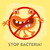 stop bacteria cartoon vector illustration no virus stock photo © robuart