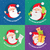 merry christmas and happy new year set of banners stock photo © robuart