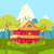 chinese house in mountains landscape illustration stock photo © robuart