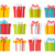 colourful christmas boxes set isolated on white stock photo © robuart