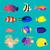 рыбы · тварь · знак · иллюстрация · бумаги · плакат - Сток-фото © robuart