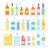 bottle set design flat oil and beverage stock photo © robuart