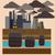 industrieel · landschap · plant · giftig · milieu · verontreiniging · zwarte - stockfoto © robuart