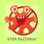 stop bacteria cartoon vector illustration no virus stock photo © robuart